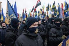 Mars de la dignité nationale dans Kyiv Image libre de droits
