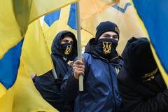 Mars de la dignité nationale dans Kyiv Photos libres de droits