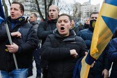 Mars de la dignité nationale dans Kyiv Images libres de droits
