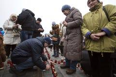 Mars de la solidarité contre le terrorisme à Kiev Image libre de droits