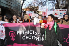 Mars de la solidarité du ` s de femmes Images stock