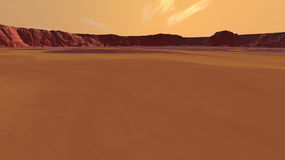Mars Distant Valley Walls vector illustration