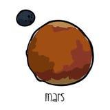 Mars drawn Stock Image