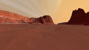 Mars Exit From Box Canyon Stock Photography