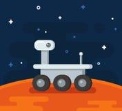 Mars exploration illustration Stock Photography
