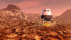 Mars exploration Royalty Free Stock Photography