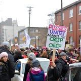 Mars för kvinna` s i Ottawa Arkivbild