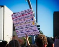 Mars för ` s för 2018 kvinnor i Santa Ana, Kalifornien Fotografering för Bildbyråer