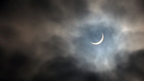 Mars för sol- förmörkelse 20th 2015 Arkivfoton