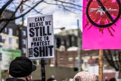Mars för våra liv Seattle Royaltyfri Bild