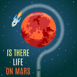 Mars Flat Design Concept Royalty Free Stock Images