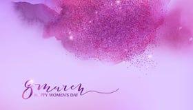 8 mars, fond de jour des femmes s Image libre de droits