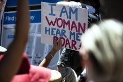 Mars för kvinna` s, Sydney - Australien Royaltyfri Fotografi