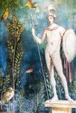 Mars fresk w Pompeii domu Włochy fotografia stock