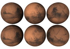 Mars globe Royalty Free Stock Photography