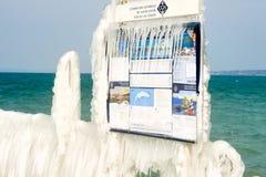 Mars 2010 hiver dur de la Suisse Genève dans le lac Leman Image stock