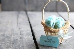 Mars 8 Internationell dag för kvinna` s blommakort med rosor Royaltyfri Bild