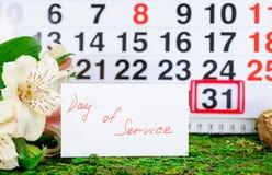 31 mars jour de Cesar Chaves de service sur le calendrier Image stock