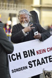 10 mars jour 2017 de soulèvement au Thibet, Berne switzerland Image stock