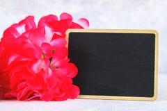 8 mars, jour international du ` s de femmes Tableau avec les fleurs roses Copiez l'espace Photos libres de droits
