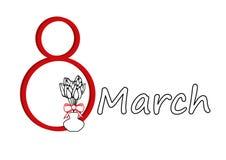 Mars 8 - kvinnors dag Arkivfoto