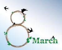 Mars 8 - kvinnors dag Royaltyfria Foton