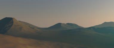 Mars landscape Royalty Free Stock Image