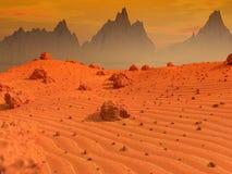 Mars-Landschaft Lizenzfreies Stockbild