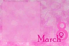 8 mars le jour de la femme heureuse Photo libre de droits