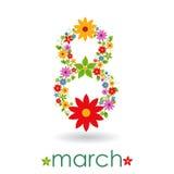 8 mars le jour des femmes Image libre de droits