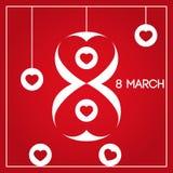 8 mars Le jour des femmes internationales Photographie stock libre de droits
