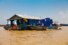 25 mars 2014 Le village de flottement, Komprongpok caled, sur Images stock