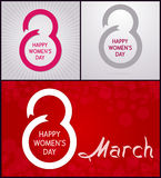 8 mars Lyckliga kvinnors dag Royaltyfri Bild