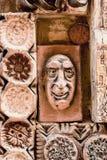12 Mars 2017 M Magomayev gränd, Baku, Azerbajdzjan Frescoesna som dekorerade väggarna av huset av konstnär-skulptören Arkivbilder