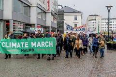 Mars Malmö för klimat för folk` s Fotografering för Bildbyråer