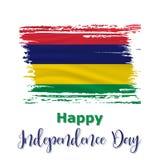 12 mars, Mauritius Independence Day bakgrund stock illustrationer
