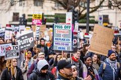 Mars mot trumfpolitik Royaltyfri Bild