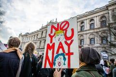 Mars mot trumfpolitik Royaltyfri Fotografi