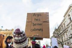 Mars mot trumfpolitik Arkivfoto