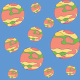 Mars-Muster Karikaturillustration des Mars-Vektormusterhintergrundes stock abbildung