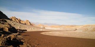 Mars na ziemi - VAlle de los angeles Luna, Atacama pustynia, Chile Fotografia Stock