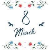 8 mars objet de carte de voeux de jour des femmes s Fichier de vecteur d'ENV 10 Images stock