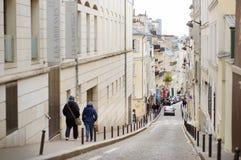MARS 1, 2015 - PARIS: Gränd i mitten av Paris Arkivfoton