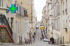 MARS 1, 2015 - PARIS: Gränd i mitten av Paris Arkivbild
