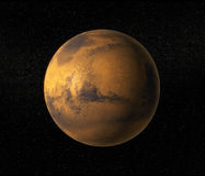 Mars planet. A view of planet Mars Stock Image