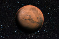 Mars planet beyond our solar system. Stock Images