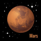Mars planet 3d vector illustration. High quality isometric solar system planets. Royalty Free Stock Photo