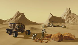 Mars Planet Explorers Stock Photo