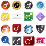 Mars Planetary Sign Icon Set Royalty Free Stock Images