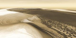 Mars Polar Icecap Royalty Free Stock Photo